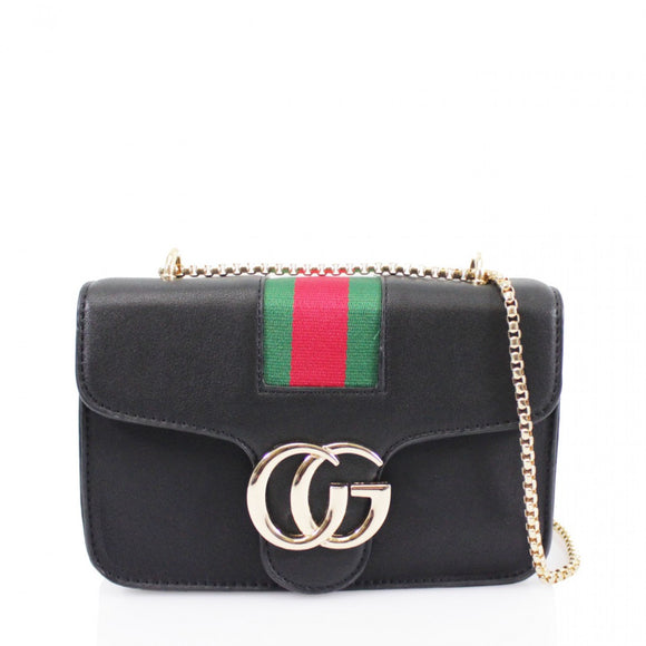 d3dbf6ce0 Raegan Striped Gucci Inspired Bag - Black – Style Of Beyond