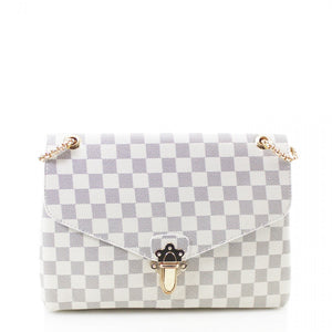 'Date Night' Louis Vuitton Inspired Bag - White Check