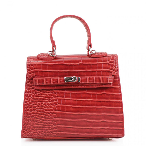 Keva Moc Croc Mini Hermes Inspired Bag - Red