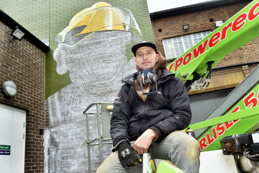 Dutch artist Tymon de Laat creates stunning piece of street art in Carlisle