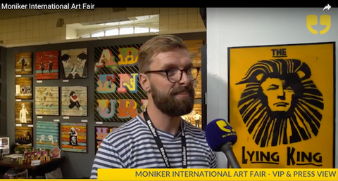 Ben Heslop of Landmark Street Art at Moniker International Art Fair