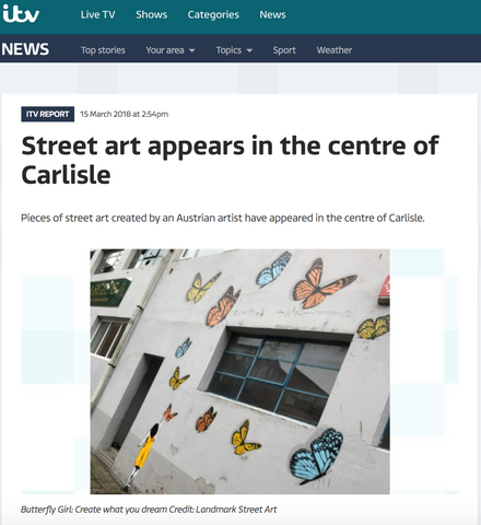 Street art appears in the centre of Carlisle