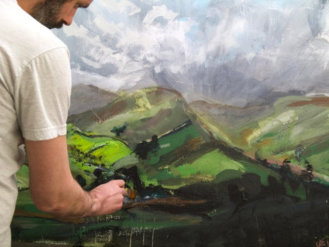 Martin Evans at the Easel