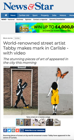 World renowned street artist Tabby makes mark in Carlisle