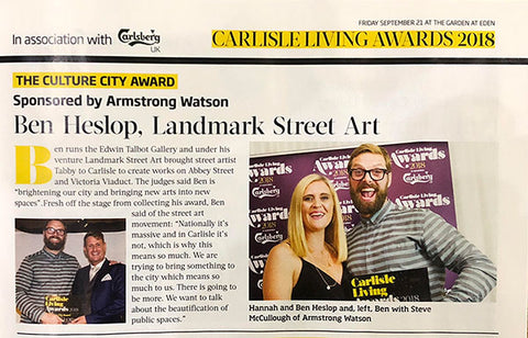 Culture City Award for Carlisle won by Ben Heslop of Landmark Street Art