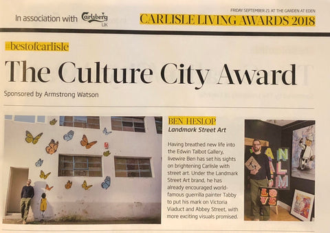 Carlisle Living Awards 2018 - The Culture City Award - Ben Heslop of Landmark Street Art