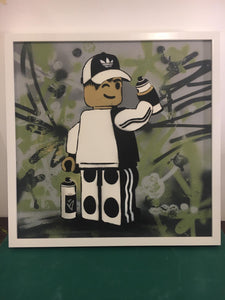 Ame72 James Ame original canvas for sale graffer Lego art