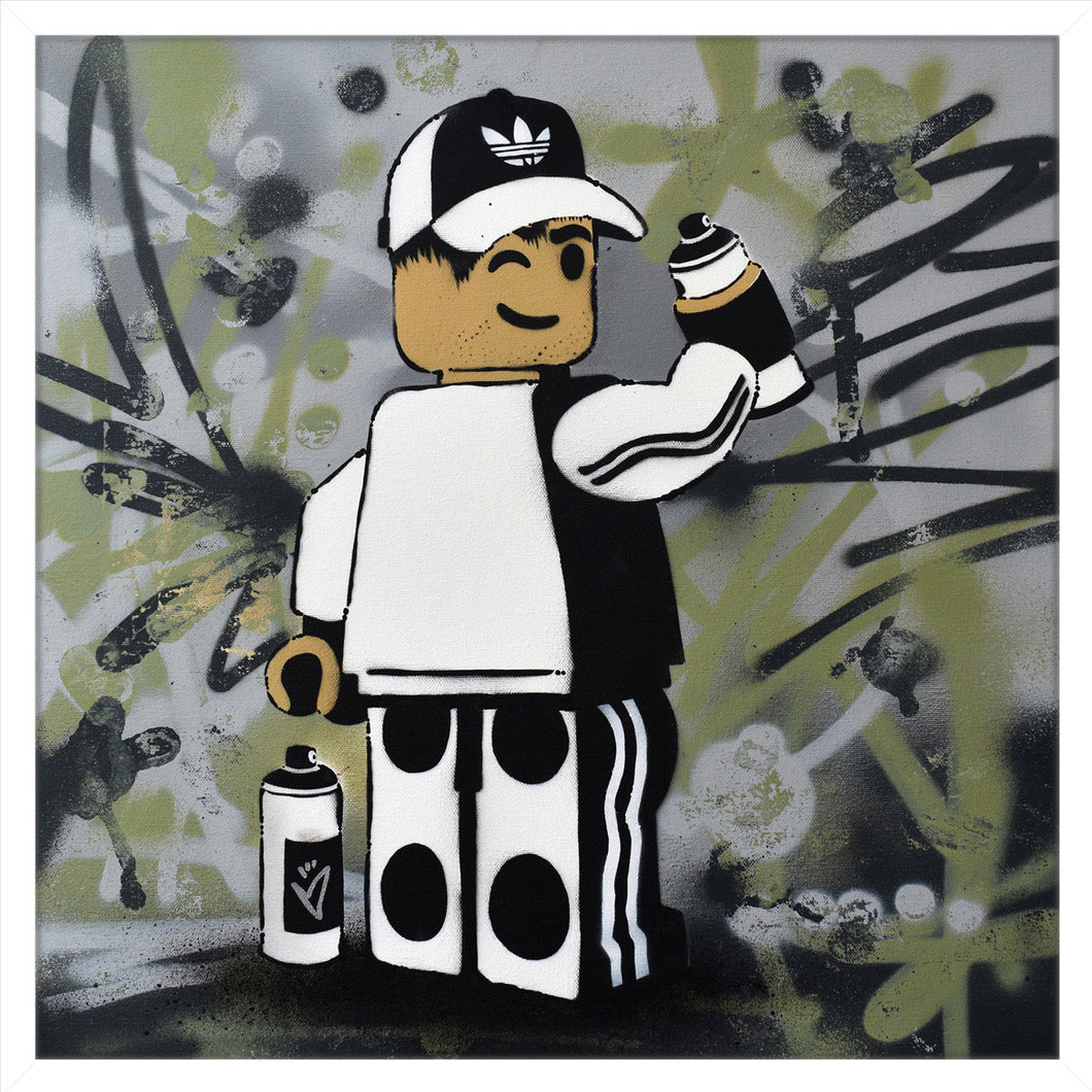 Ame72 James Ame original canvas Lego Art Graffer for sale