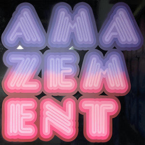 Ben Eine Amazement Original Neon Canvas
