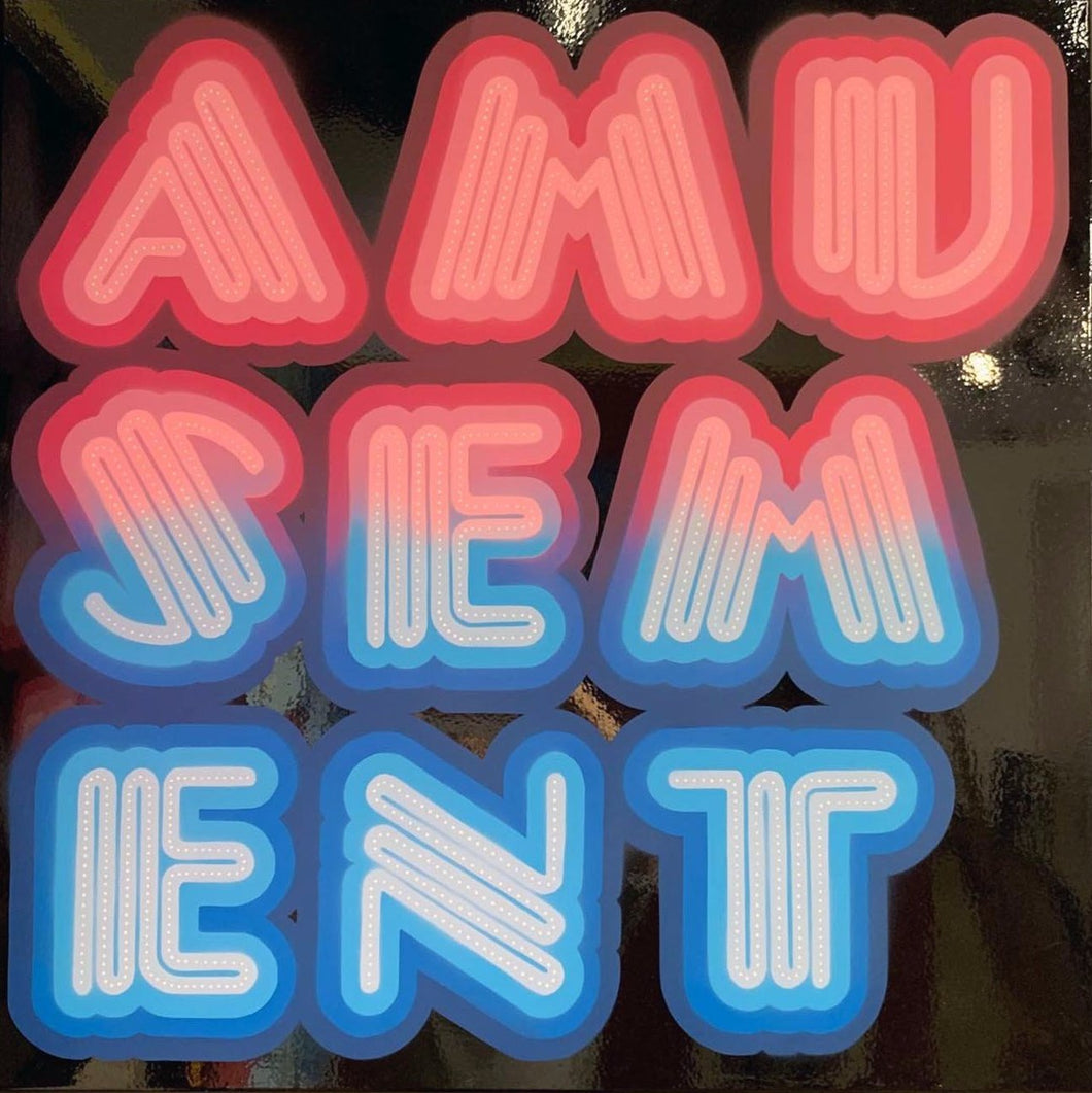 Ben Eine Amusement High Gloss Neon Original Canvas