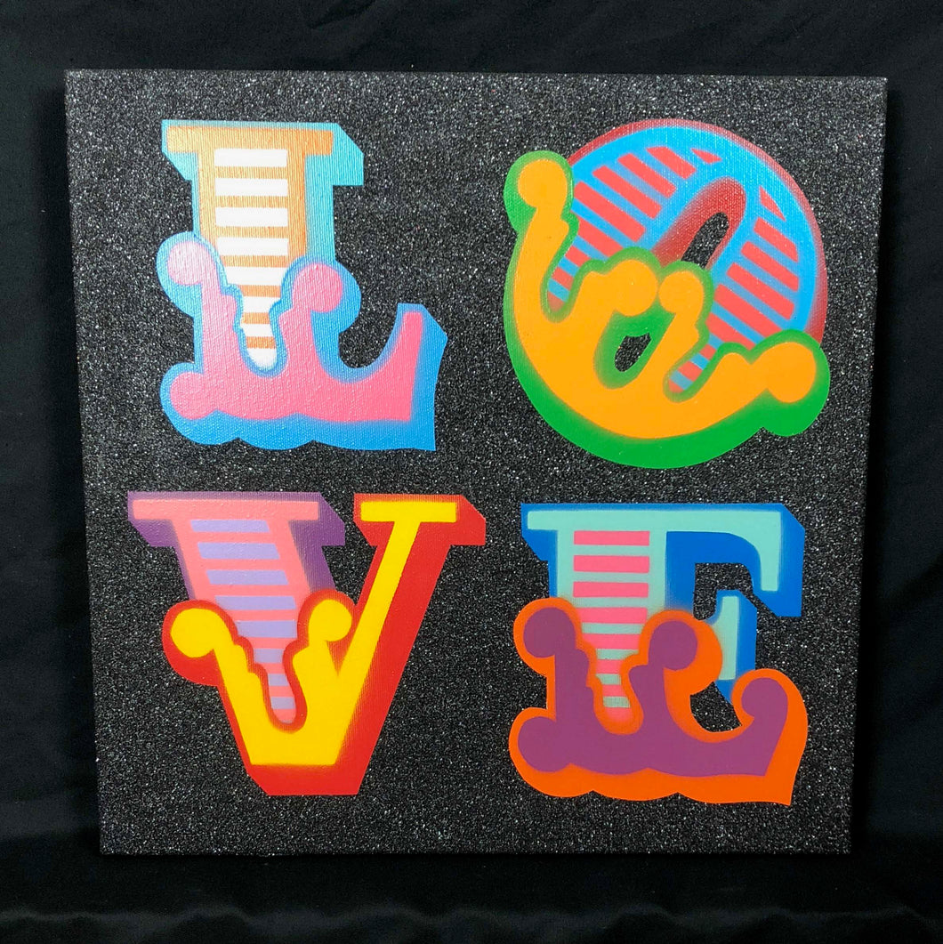 Love - Ben Eine Circus Art - Original Canvas For Sale