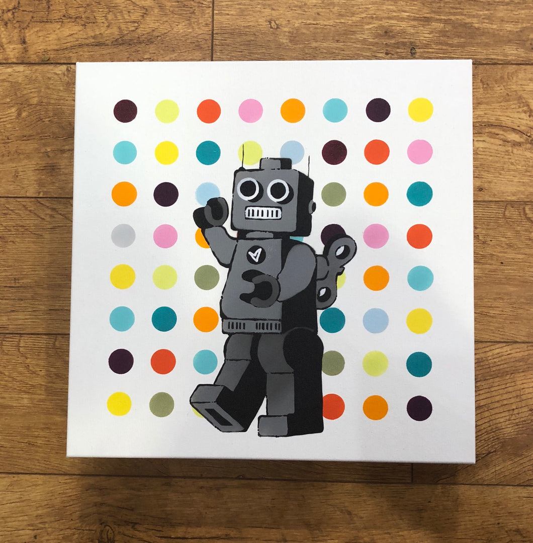 Ame 72 Original Canvas Robot Spot Dark Purple