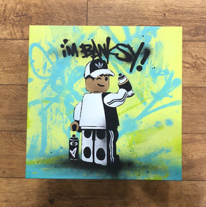 Ame 72 I'm Banksy Lime Original Canvas
