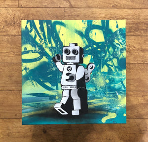 Ame 72 Robot Tagger Green Original Canvas