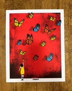 Tabby: Butterfly Girl Limited Edition Screen Print
