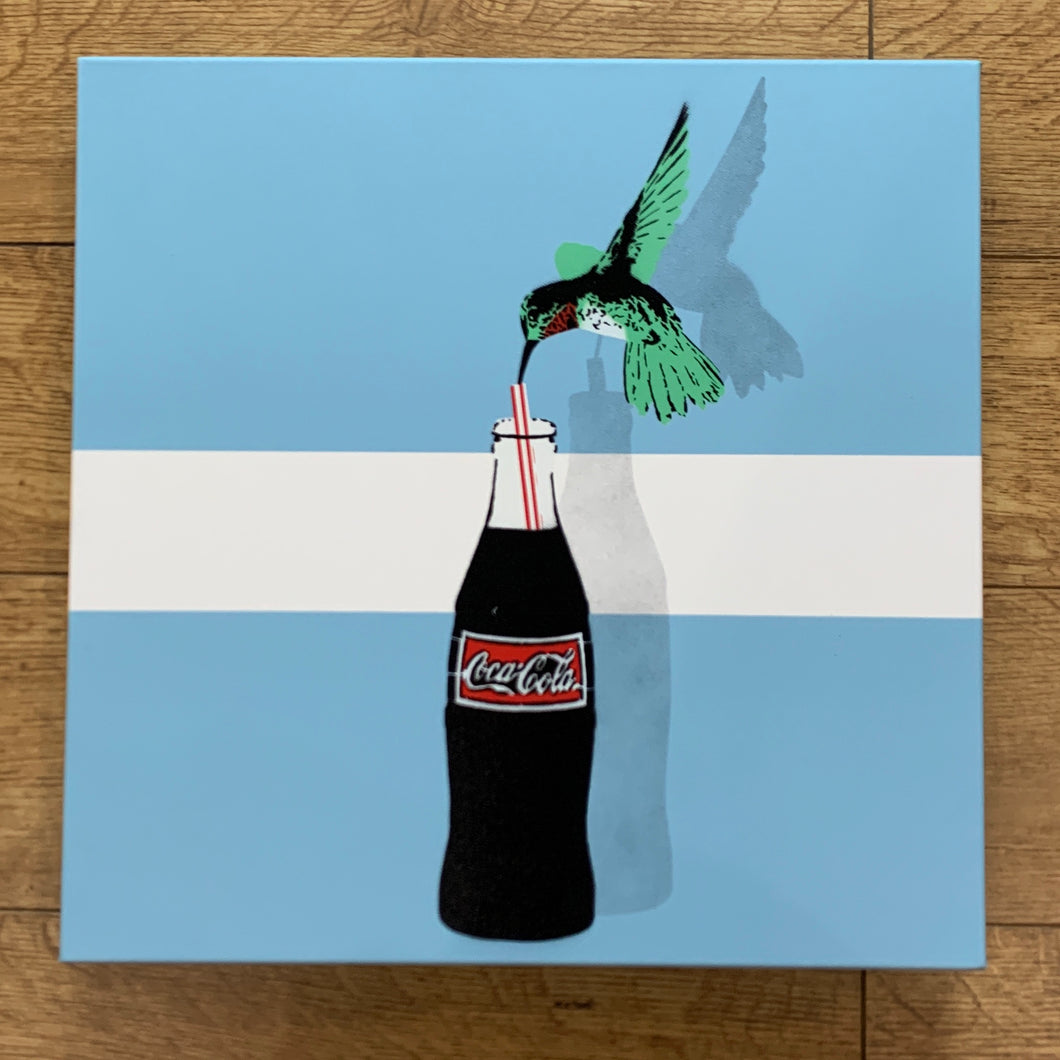 Hooked On Coke Tabby Original Canvas For Sale