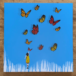 Tabby: Original Canvas Butterfly Girl
