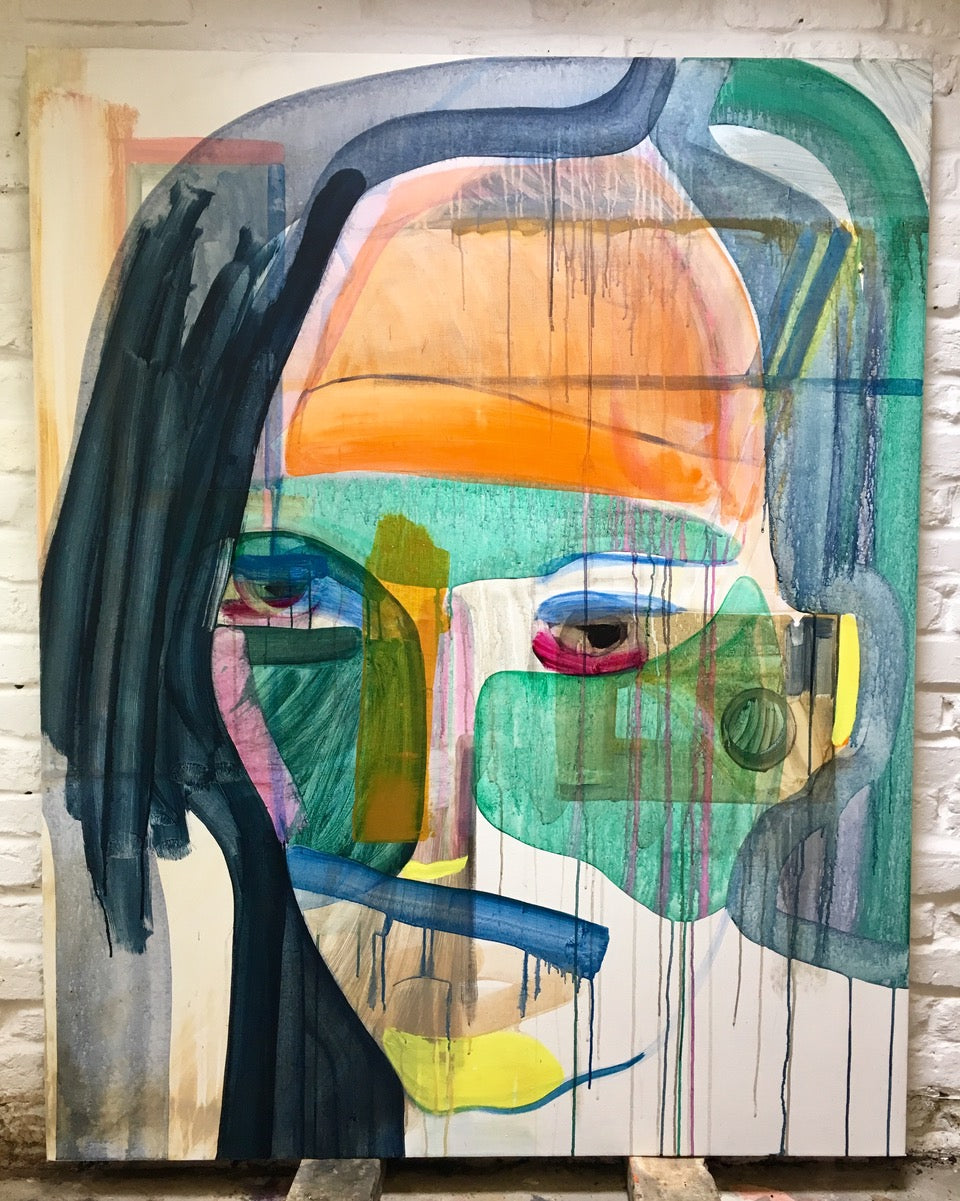Lucie Flynn Self Portrait Original Canvas
