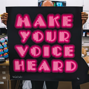 Ben Eine Make Your Voice Heard Limited Edition Print For Sale