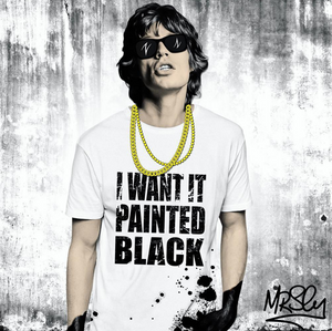 Mr Sly I Want It Painted Black Mick Jagger Print