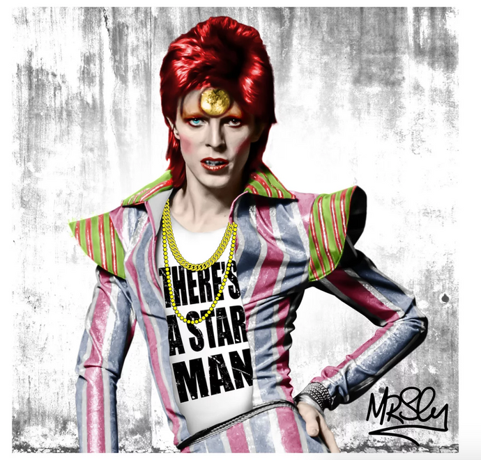 Mr Sly David Bowie There's A Star Man Limited Edition Print
