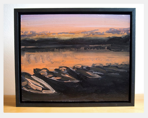 Martin Evans: Boats At Sunset