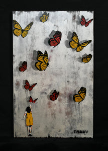 Tabby Butterfly Girl Original Red/Yellow