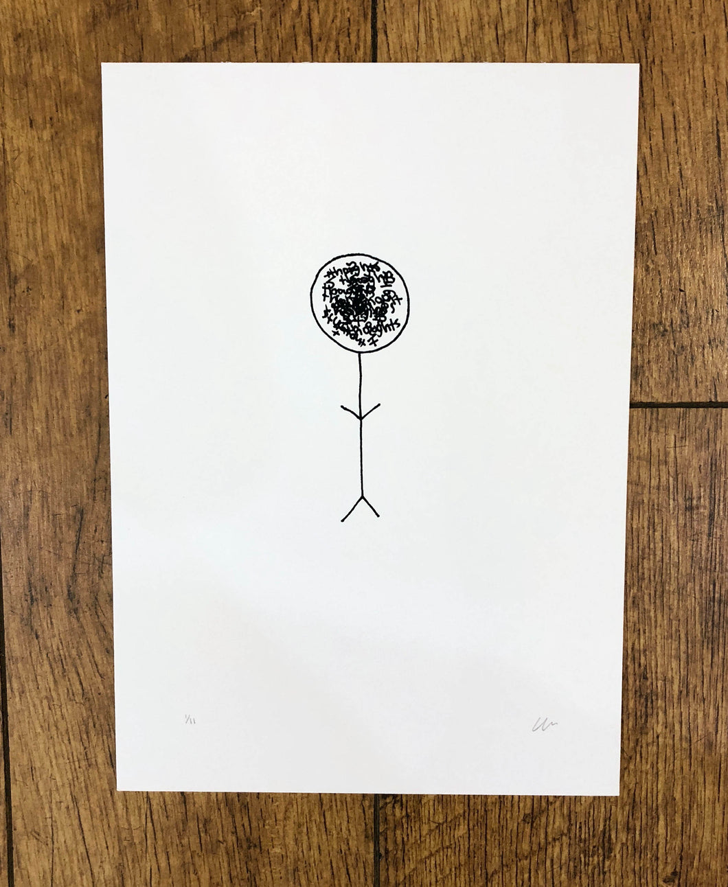 Wrabel Art: Thoughts screen print