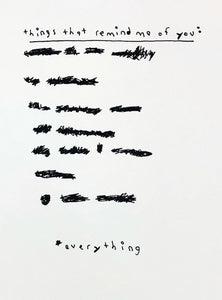 "Wrabel Art: ""Everything Reminds Me Of You"" screen print"