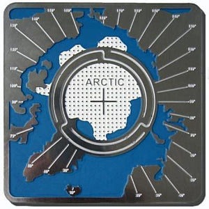 Arctic Map'n'lite map and night light holder shows the North Pole, surrounding countries - Alaska, Canada, Greenland, Russia. Is this where Santa Claus lives?