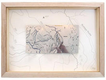 Burbage Edge stainless steel Wapenmap contour map. Peak District, circular walk around Higger Tor, Carl Wark, Hathersage and the River Derwent. 3D metal map