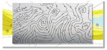 Scafell Pike and Great Gable. Lake District metal contoured Wapenmap map