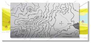 Skiddaw Wapenmap 3D contoured stainless steel metal map walk Keswick, Derwent Water, trig point on Skiddaw, Little Man, Sale How, Latrigg, Bassenthwaite Common