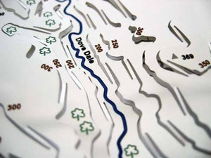 cycle or walk in Dovedale - stainless steel contoured map