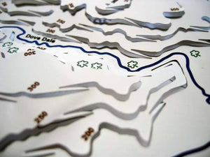 Dovedale and Tissington contoured stainless steel metal wapenmap map