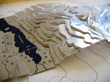 Helvellyn three dimensional stainless steel contoured map