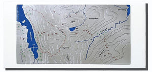 Helvellyn Wapenmap stainless steel contoured map Lake District landscape