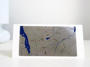Helvellyn stainless steel Wapenmap map mounted on a greeting card