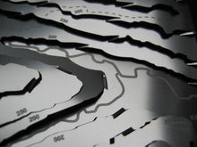 Kilnsey Crag detail on the Yorkshire Dales stainless steel contour map