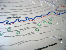 Dales Way through Wharfedale, Yorkshire Dales 3D relief map
