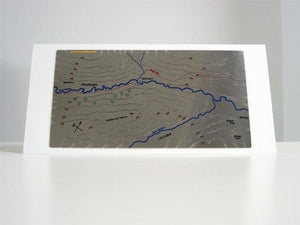 Kilnsey Crag and Wharfedale Wapenmap stainless steel contoured relief map features the Dales Way walk. Wharfedale, Littondale, Kettlewell, Kilnsey, Starbotton