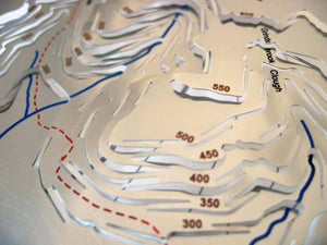 Grinds brook Clough and Pennine Way on 3d Peak District map