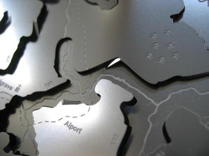 Alport and Youlgrave detail on Lathkill Dale stainless steel contoured map