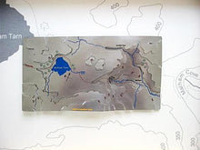 Malham Cove and Malham Tarn Wapenmap stainless steel contoured relief map features part of the Pennine Way. Malham, River Aire, Gordale Scar, Yorkshire Dales