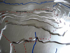 The Peak District Great Ridge - Mam Tor, Hollins Cross and Lose Hill map detail