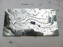 Pen y Fan Wapenmap stainless steel 3D map Beacons Way. Corn Du, Pen y Fan, Cribyn and Fan y Big, Upper Neuadd, Nant Sere, Nant Cymwyn, Taf Fechan, Caerfanell