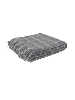 100% pure new wool throw made in the UK