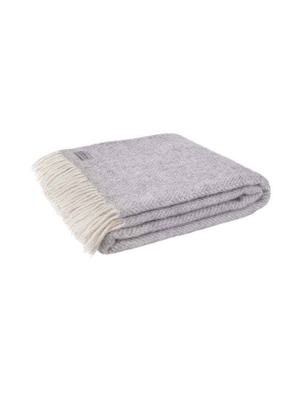 100% wool throw made in the UK