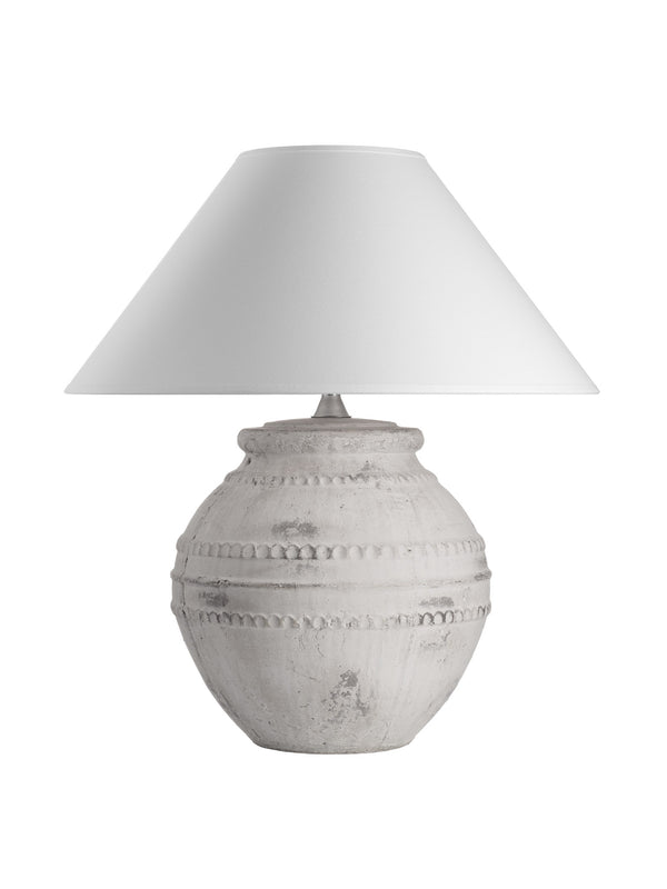 Etruscan Lamp - White Coolie Shade