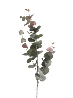 faux blush eucalyptus stem